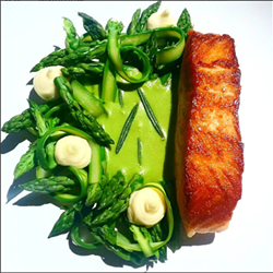 """Salmon 'n Asparagus"" - PHOTO VIA PATRICK TRAMONTANA ON INSTAGRAM"