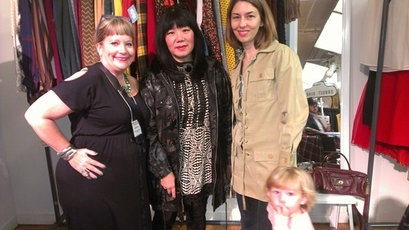 Orlando Vintage owner Lisa Smith with designer Anna Sui and actress Sofia Coppola - PHOTO VIA ORLANDO VINTAGE ON FACEBOOK