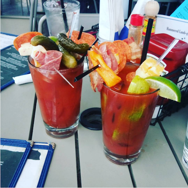 The build-your-own Hammered Lamb Bloody Mary - PHOTO VIA NIKOT2323/INSTAGRAM