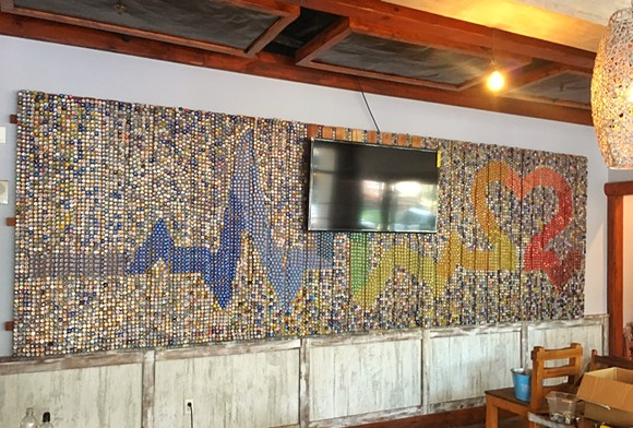 Handmade Pulse tribute inside Muddy Waters, finished - PHOTO VIA BEACON HILL GROUP