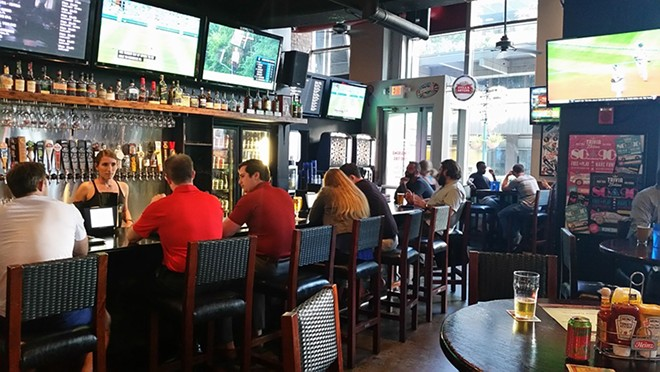 Frank & Steins current bar space. For the food hall, think same bar, fewer TVs. - SCOTT HORN