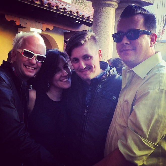 Billy and Tony flanking Adri and Jeff Billman - PHOTO BY ERIN SULLIVAN