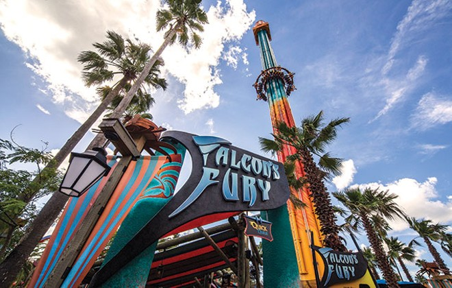 Falcon's Fury at Busch Gardens Tampa - PHOTO BY SETH KUBERSKY