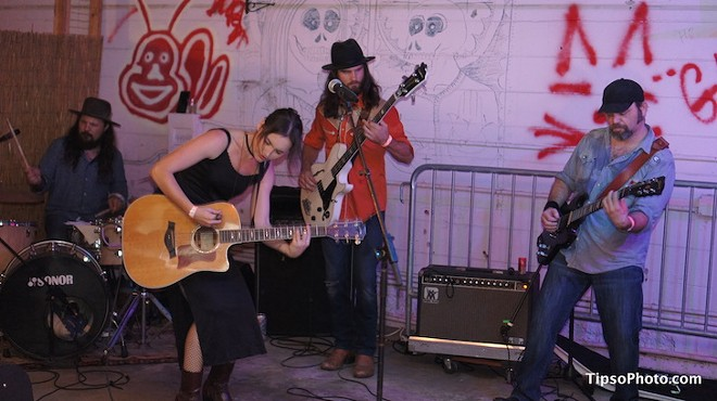 Hannah Harber & the Lionhearts at Dirty Laundry pavilion - MICHAEL LOTHROP