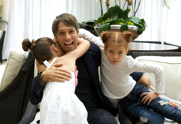 From left to right: Brooklynn Prince, Sean Baker and Valeria Cotto. - PHOTO BY MONIVETTE CORDEIRO