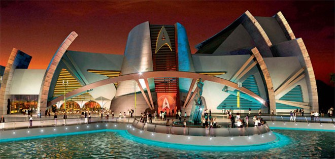 Red Sea Astrarium Star Trek attraction proposed for Jordan - IMAGE VIA THE TREK COLLECTIVE