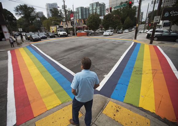 PHOTO VIA ATLANTA RAINBOW CROSSWALKS