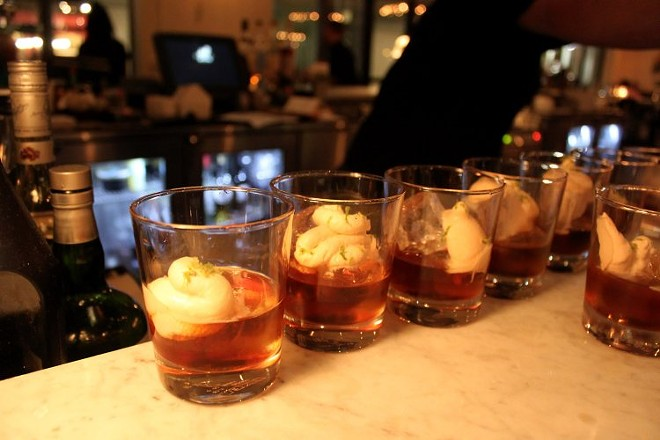 Old Forester Bourbon, Foxtail Coffee kahlua, ancho reyes, angostura cream - SUE CHIN