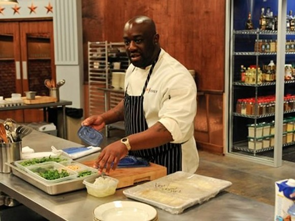 Chef Kenny Gilbert competes on Top Chef D.C. - PHOTO VIA EATER.COM