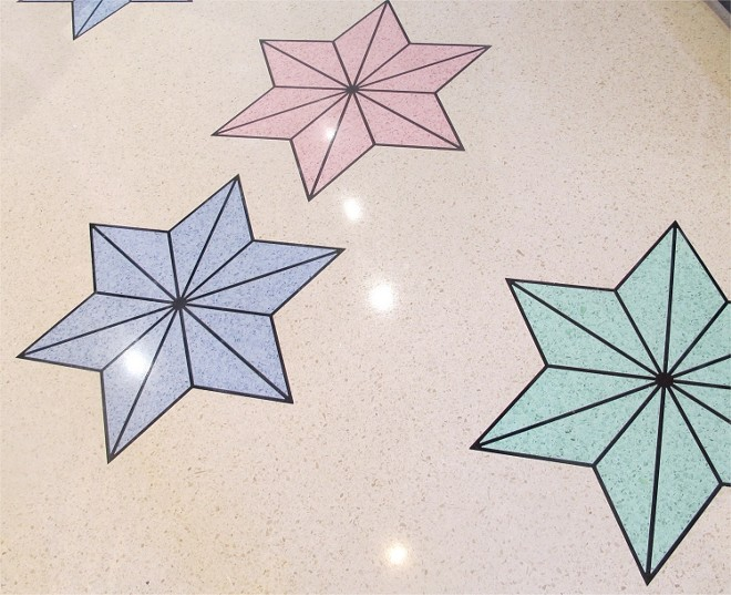 Terrazzo floors inspired by John Didio's Depression-era design - PHOTO BY FAIYAZ KARA