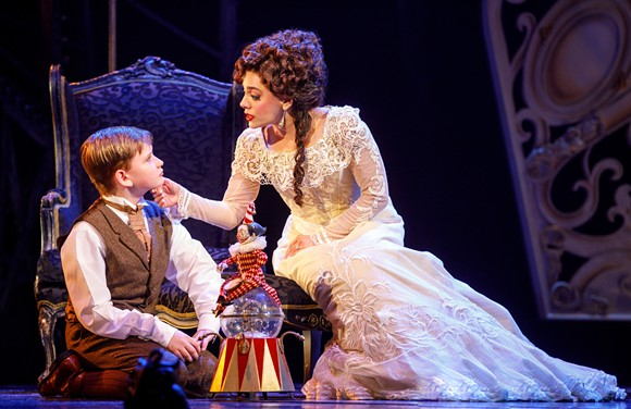 """Jake Heston Miller (""""Gustave"""") and Meghan Picerno (""""Christine Daaé"""") star in 'Love Never Dies'. - PHOTOS BY JOAN MARCUS"""