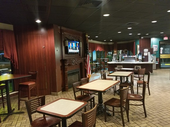 Many of the large furniture pieces have been removed from the SODO McDonald's but with a faux fireplace and a fish tank, it still remains one of the most welcoming McDonald's around.