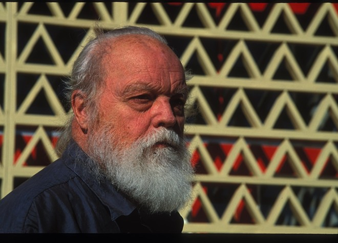 PHOTO OF LOU HARRISON BY EVA SOLTES