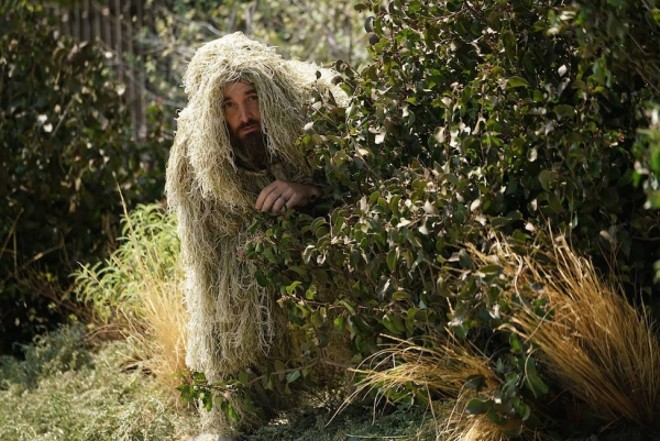 """The infamous ghillie suit from """"Last Man On Earth"""" - PHOTO VIA FOX"""
