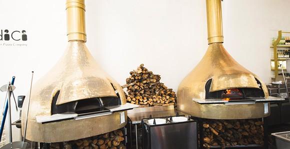 Midici's handmade wood-burning ovens