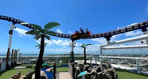 There's only one thing that would get me back on a cruise ship: the world's first rollercoaster at sea