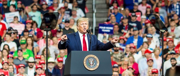 Trump crowd-tests new campaign slogan, rehashes 2016 talking points at Orlando re-election launch
