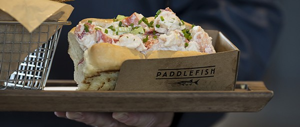 Paddlefish proudly presents a multilevel showcase  of seafood grandeur