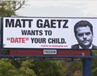 Anti-Matt Gaetz billboard claims Florida congressman 'wants to date your child'