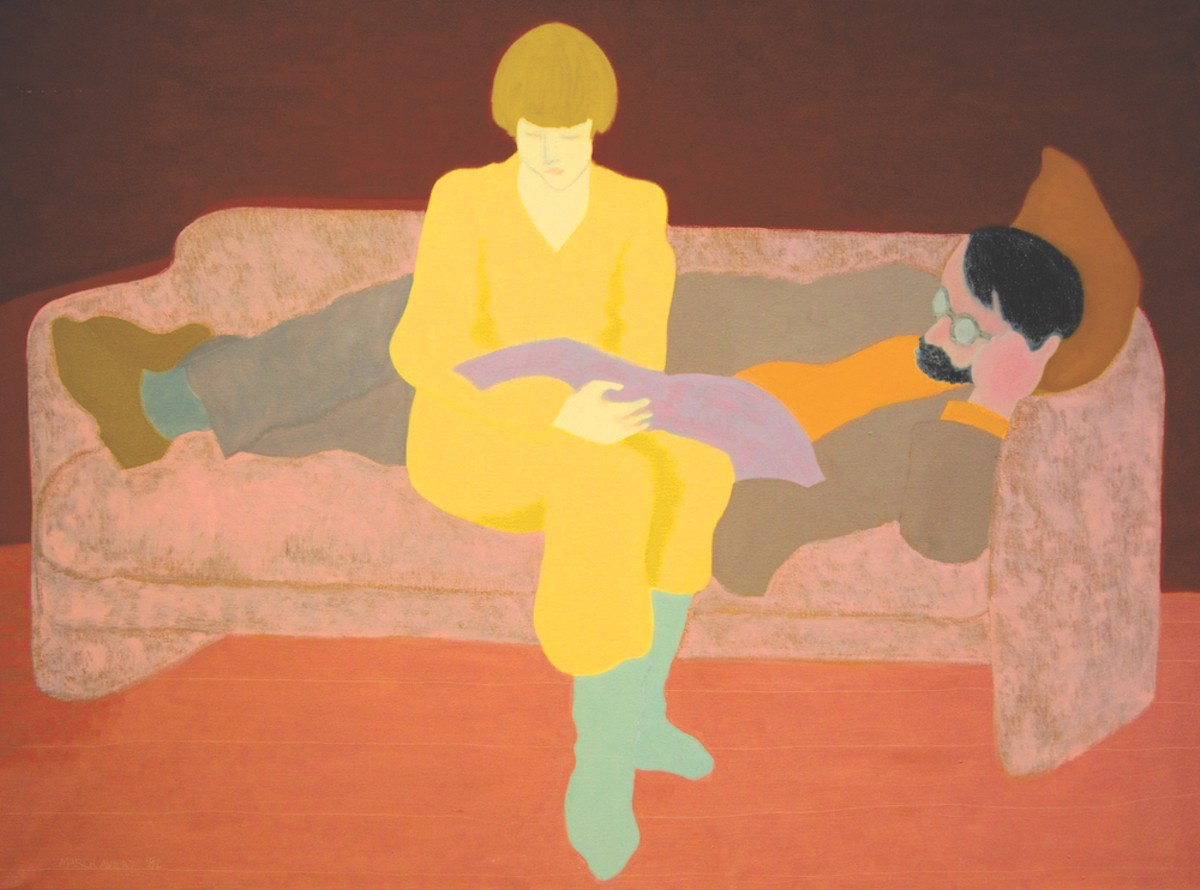"""Two Readers on the Couch,"" by March Avery"