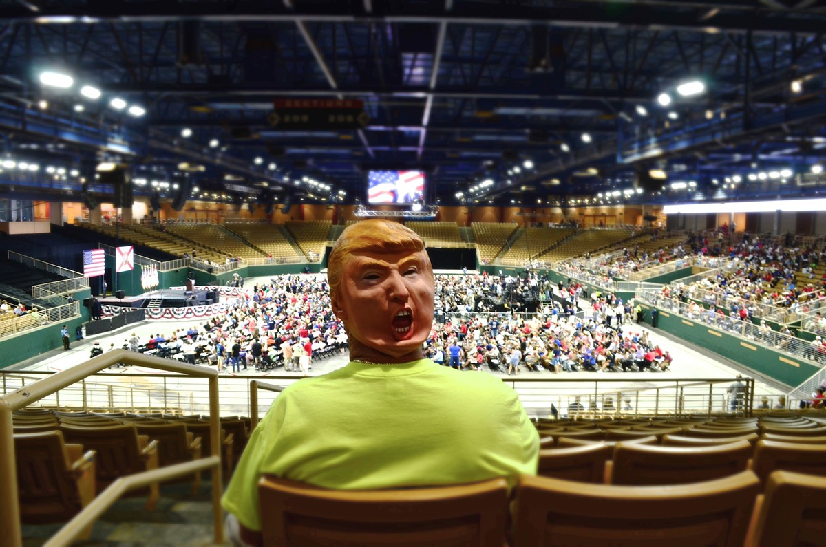 Attendee at a Trump campaign rally, Aug. 12, 2016.