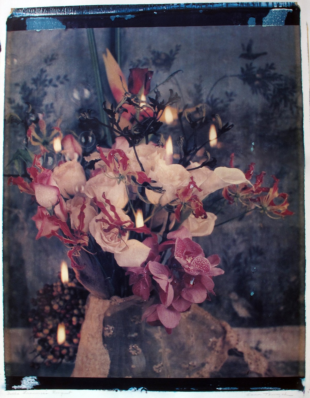 'Della Francesca's Bouquet,' Polaroid transfer by Anna Tomczak