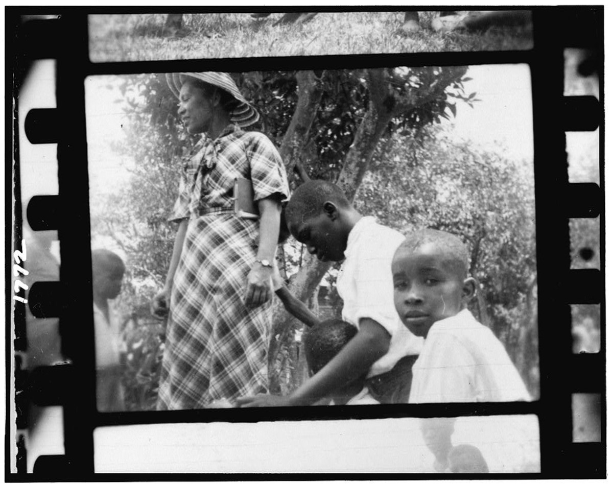 Photo of Zora Neale Hurston in Eatonville from the Lomax Collection, courtesy Library of Congress