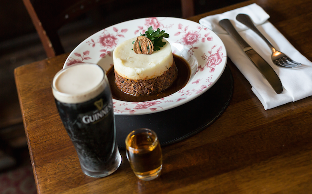 The shepherd's pie is as pretty as it is delicious at Raglan Road Irish Pub in Disney Springs