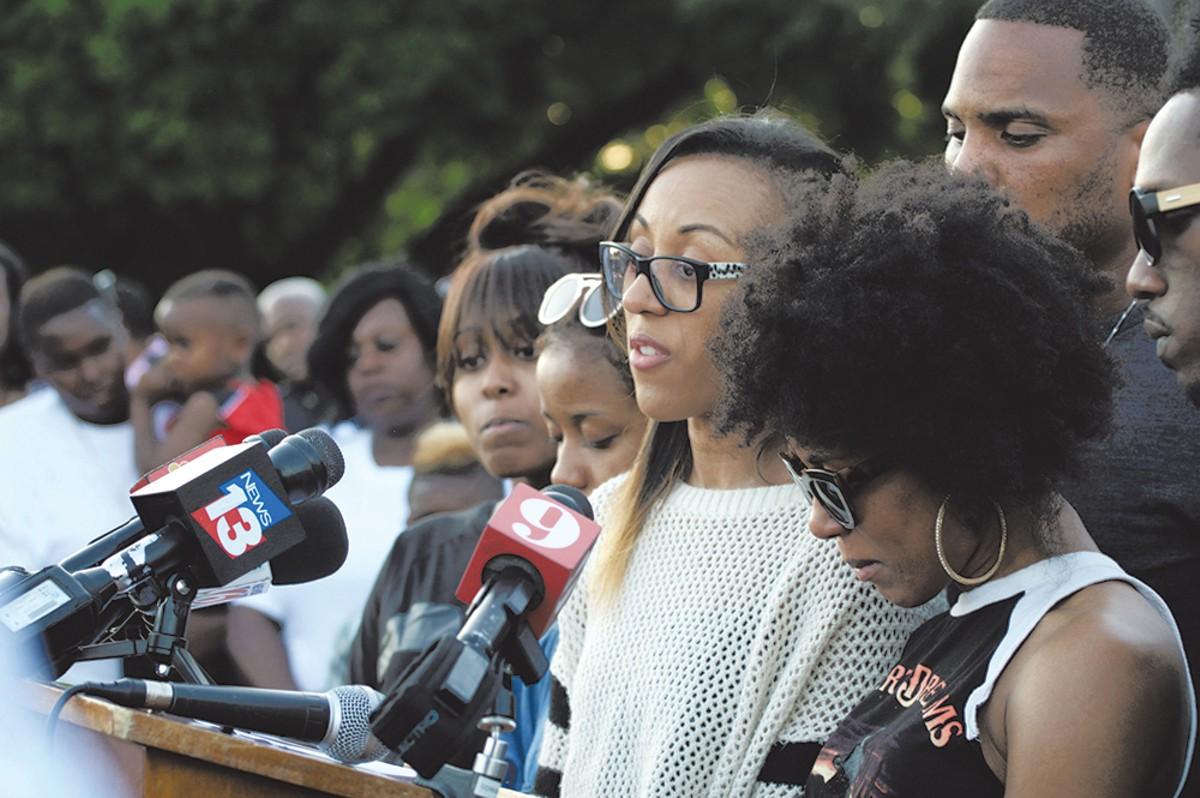 Gino Nicolas' four sisters speak at last Saturday's ceremony