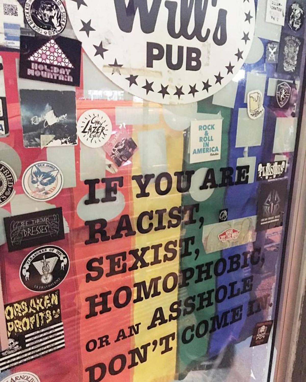 The door at Will's Pub