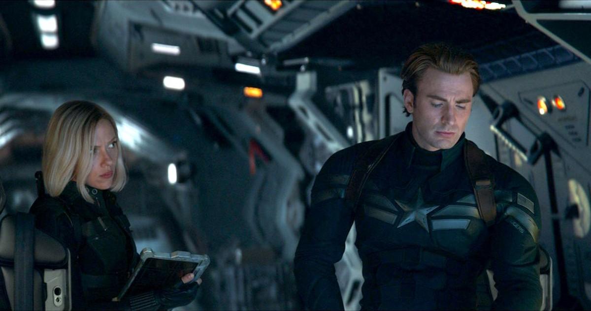 Scarlett Johansson and Chris Evans in Avengers: Endgame
