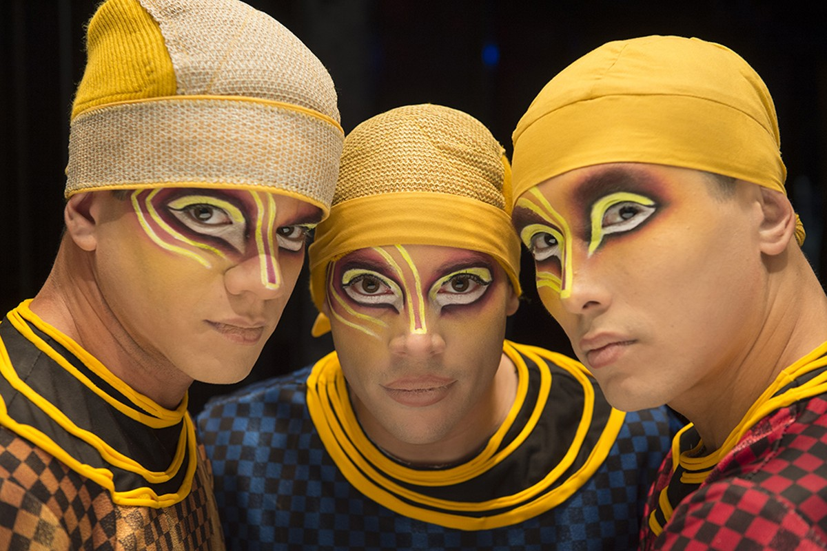 La Nouba's new breakdancers (L to R): Josh Ortiz, Jean Carlos-Lloret, Dmytro Li