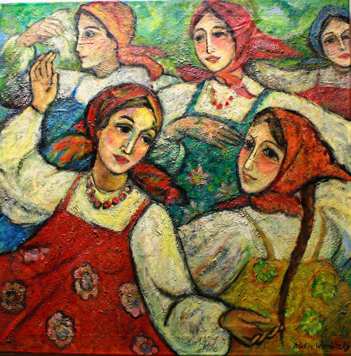Russian Round Dance | Painting by Nadia Werbitzky