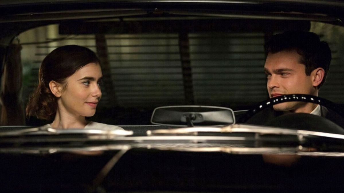 Lily Collins and Alden Ehrenreich in 'Rules Don't Apply'