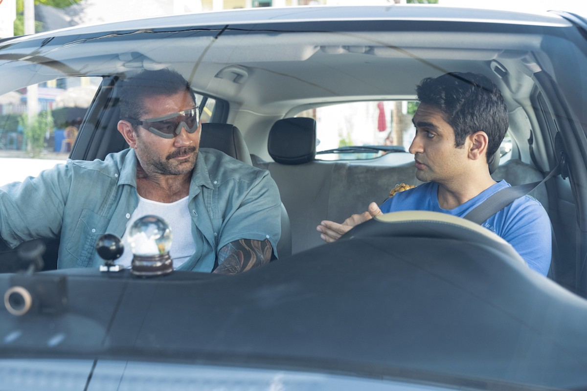 Dave Bautista and Kumail Nanjiani in 'Stuber'