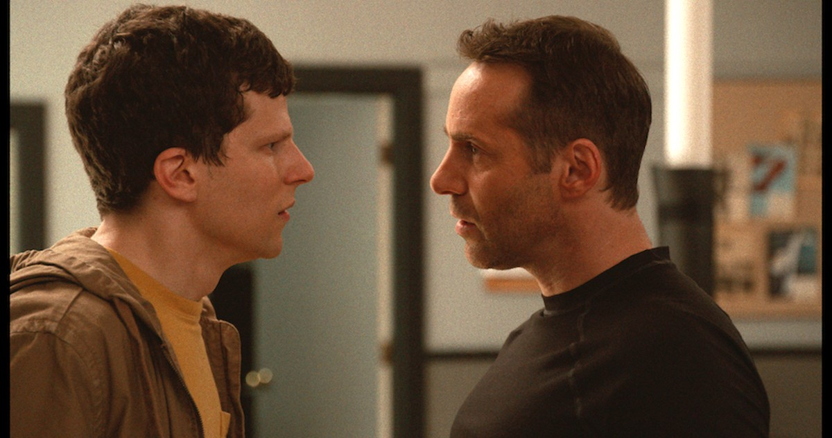 Jesse Eisenberg and Alessandro Nivola in The Art of Self-Defense