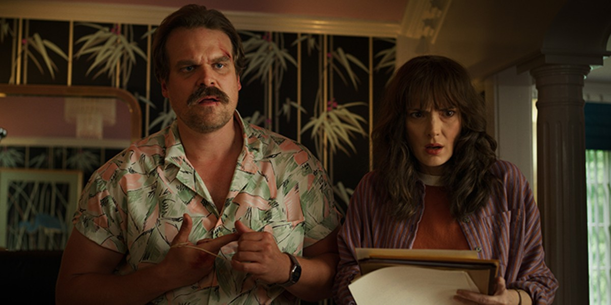 David Harbour and Winona Ryder in Stranger Things