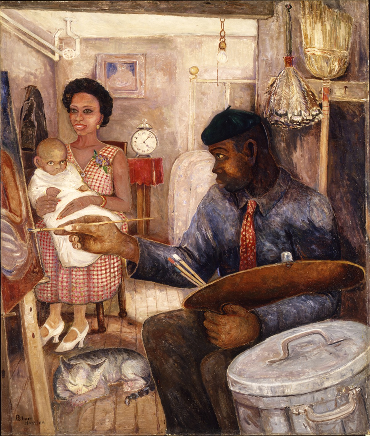 "Palmer Hayden, ""The Janitor Who Paints,"" ca. 1930, oil on canvas. Smithsonian American Art Museum, gift of the Harmon Foundation."