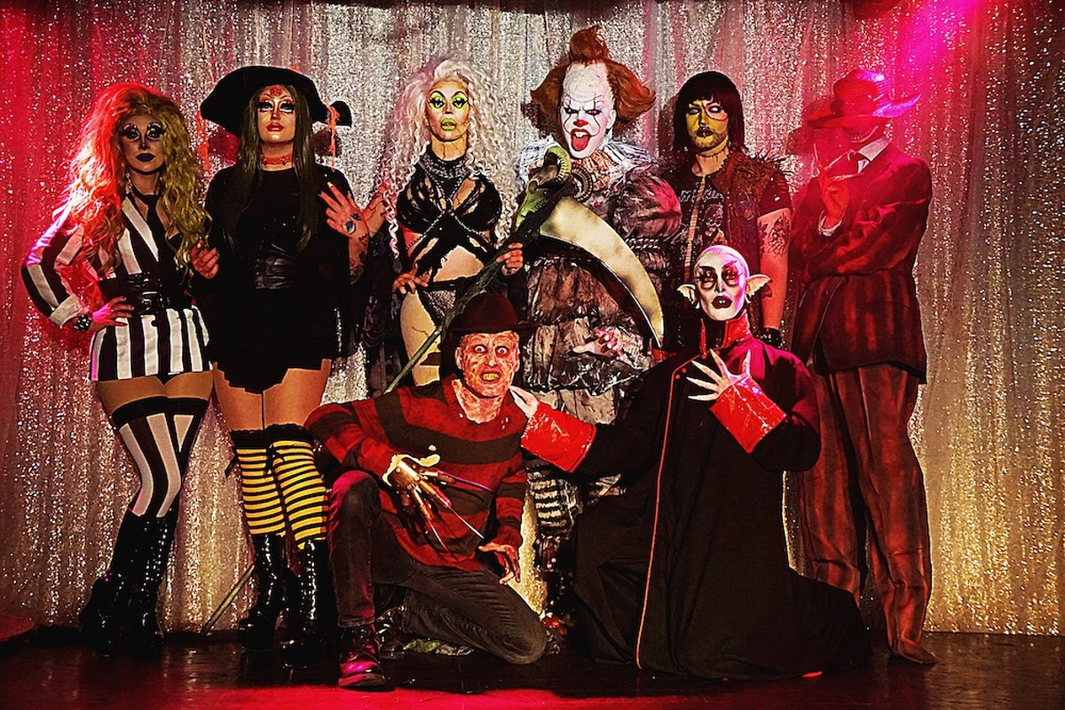 Oct. 15 Creature Feature lineup, clockwise from far left: Venus Envy, Draggedy Anne Black, Dollya Black, Carbon Cavalli, Opulence Black, Ripp Lee, Waka Shame-Black, Victoria Black
