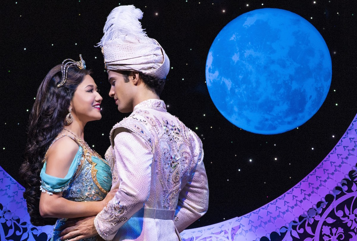 Kaena Kekoa as Jasmine and Jonah Ho'okano as Aladdin in 'Aladdin' 2020 North American tour