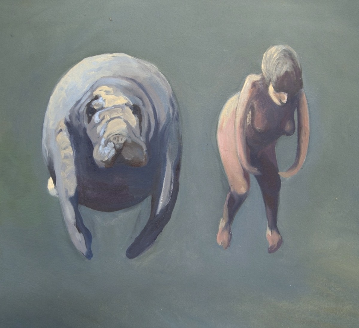 'Self Portrait With Manatee'