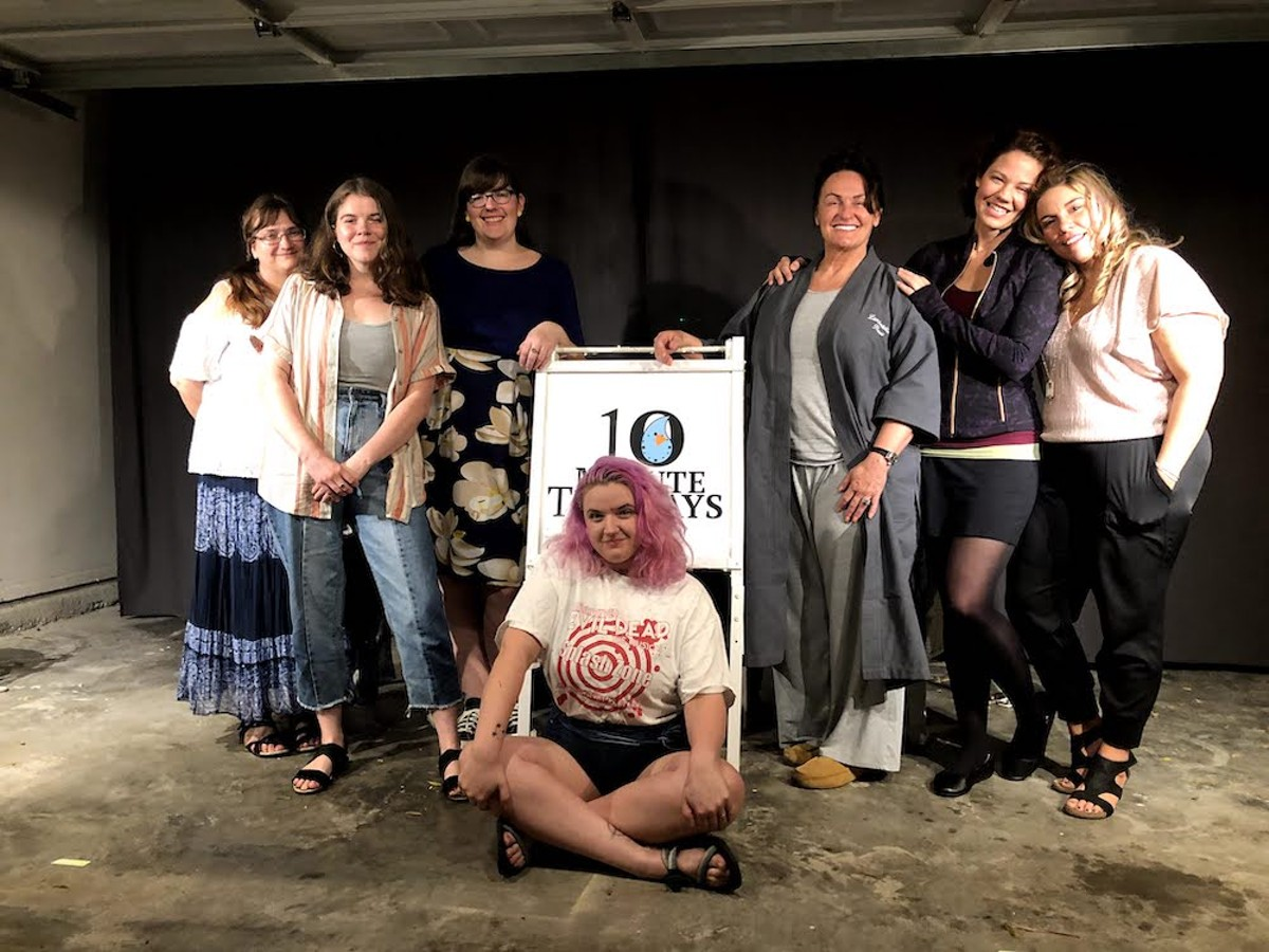 The cast and producers of Ten Minute Tuesdays in the Turpin Garage Theatre