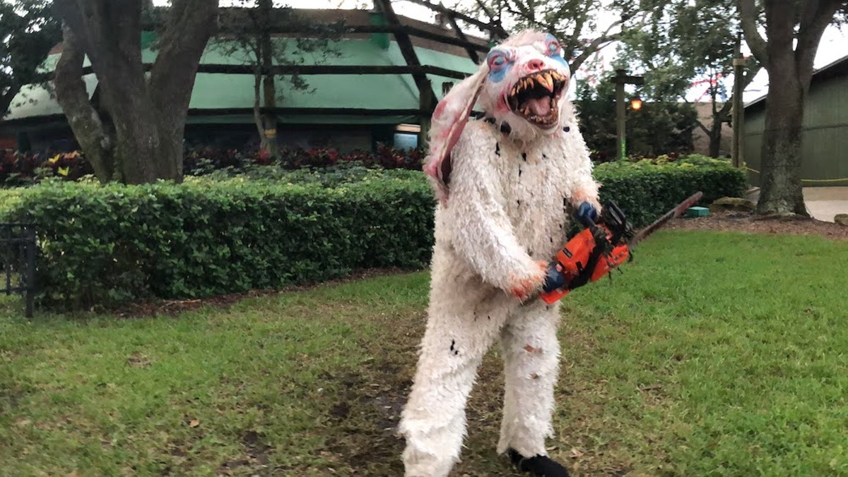 A hare-raising encounter at Busch Gardens' Howl-O-Scream