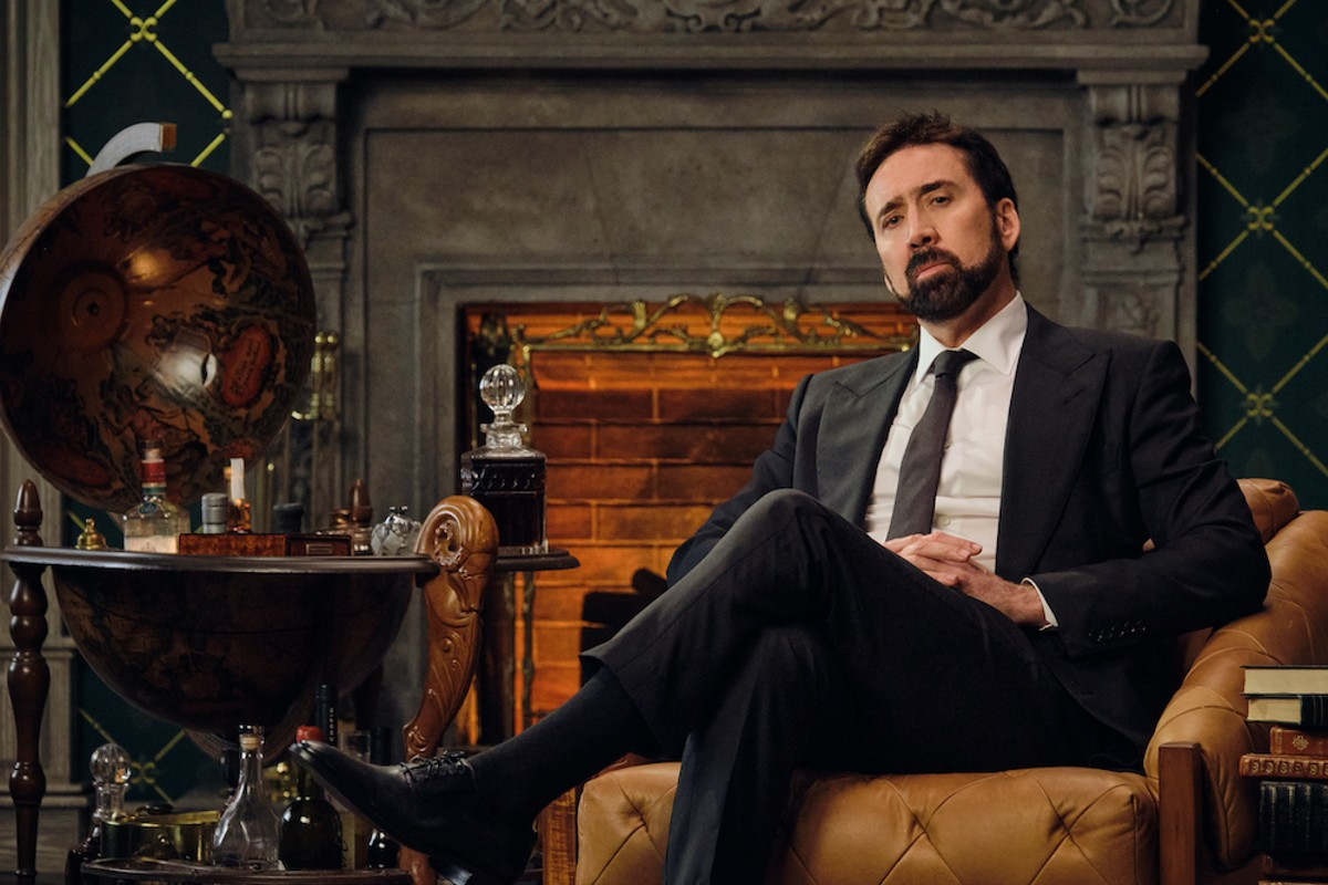 Nicolas Cage in 'History of Swear Words,' premiering Tuesday