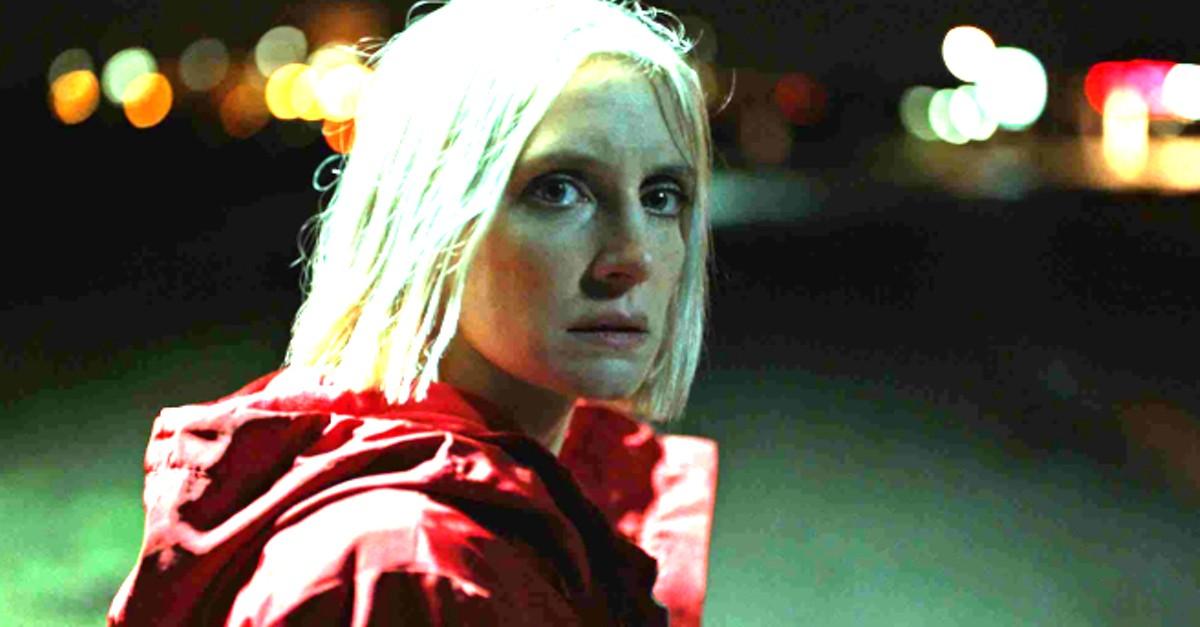 Lucie Debay as Eve in 'Hunted'