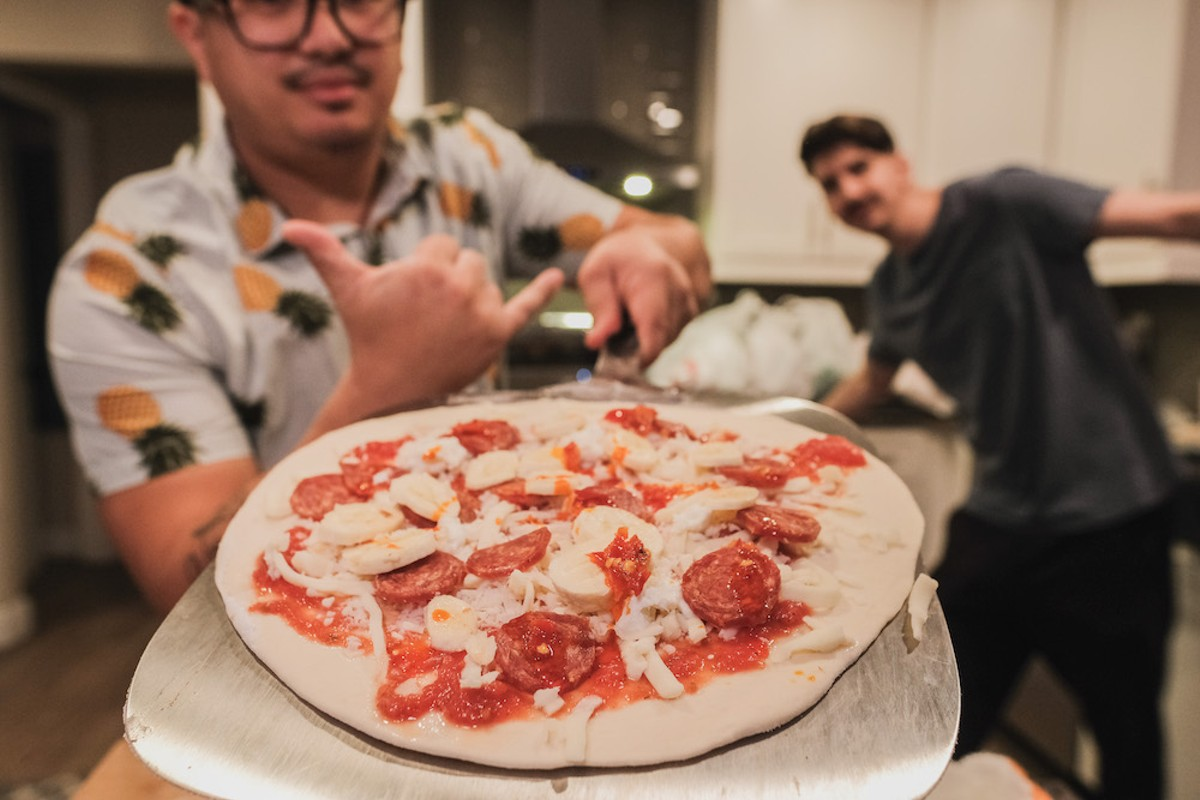 Perla's Pizza will serve a banana-pepperoni-Calabrese pepper pizza