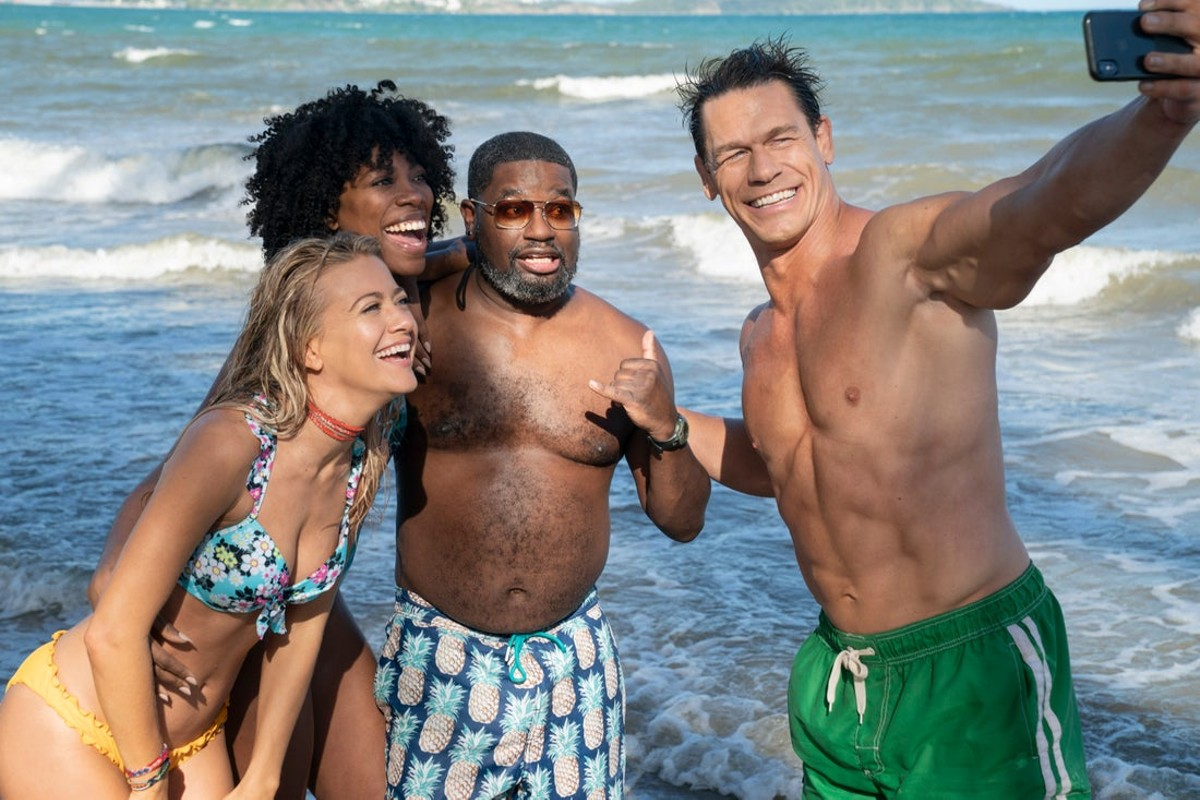 Meredith Hagner, Yvonne Orji, Lil Rel Howery and John Cena in 'Vacation Friends'