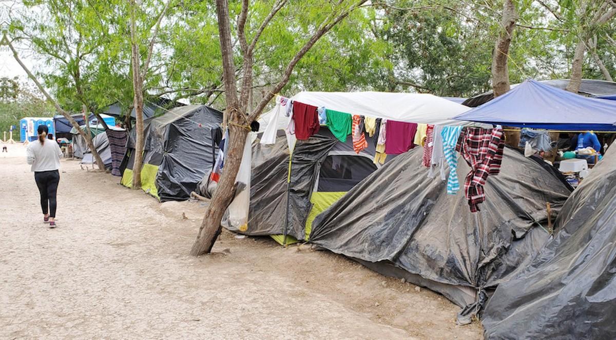 The Matamoros border camp