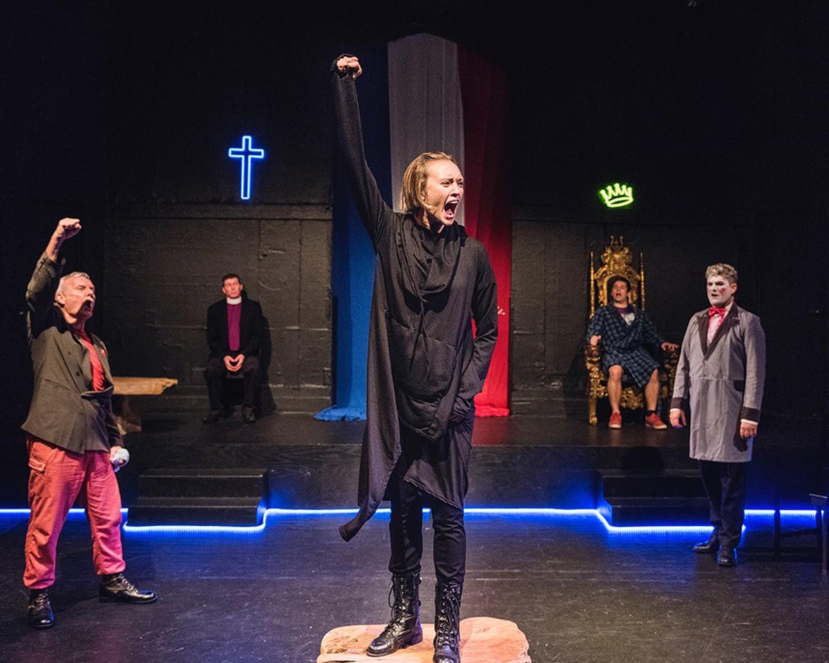Theresa Hanson as Joan of Arc