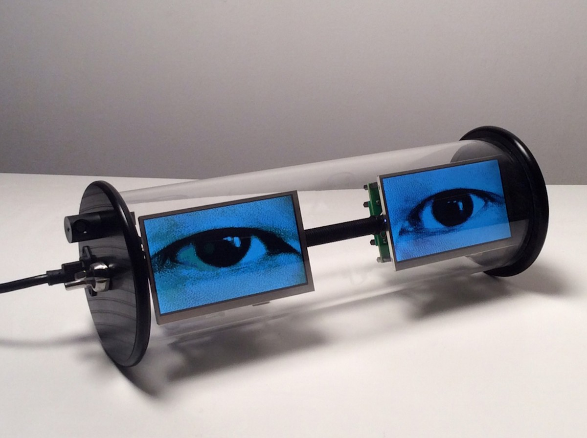 Alan Rath, 'Electric Eyes,' from Virtual Views, at Orlando Museum of Art through Dec. 31
